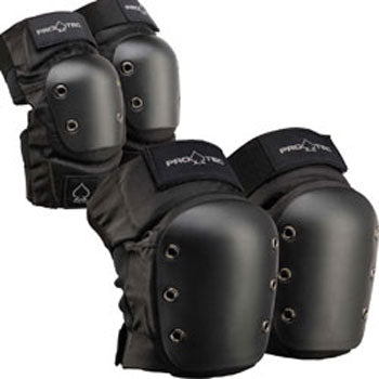Pro-tec Elbow/Knee Combo Black Protection Pack