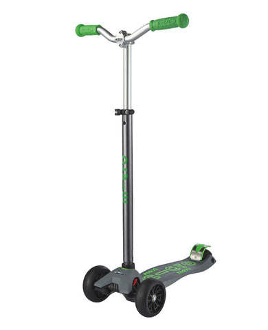 Micro Maxi Deluxe Pro Grey/Green Scooter