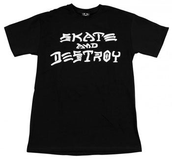 Thrasher Skate And Destroy T Shirt Black Large