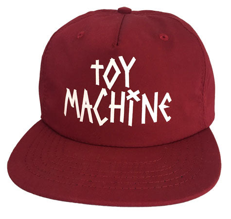 Toy Machine Tape Logo Burgundy Cap