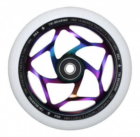 Envy Tri Bearing 120mm X 30mm Scooter Wheel Oilslick/White
