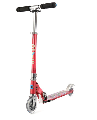 Micro Sprite Scooter Raspberry Floral Dot