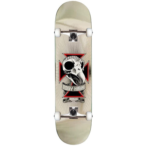 Birdhouse Hawk Chrome Skull 8.25 Pro Complete Skateboard