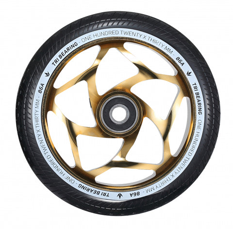 Envy Tri Bearing 120mm X 30mm Scooter Wheel Gold/Black
