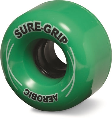 Sure Grip Aerobic Rollerskate Wheels 62mm/85a Green 8 Pack