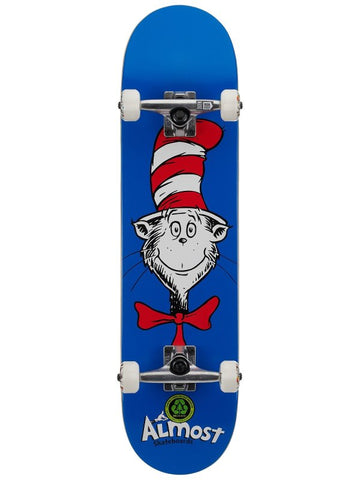 Almost Dr Seuss Cat Face 7.875 Complete Skateboard