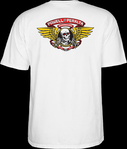Powell Peralta Winged Ripper Tee Large White