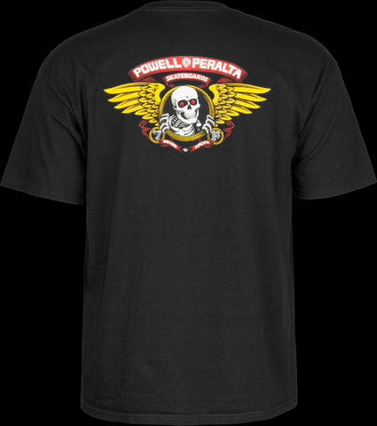 Powell Peralta Winged Ripper Tee Medium Black