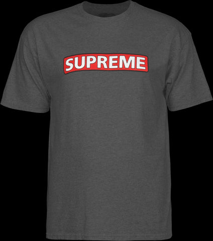 Powell Peralta Supreme Tee Large Charcoal