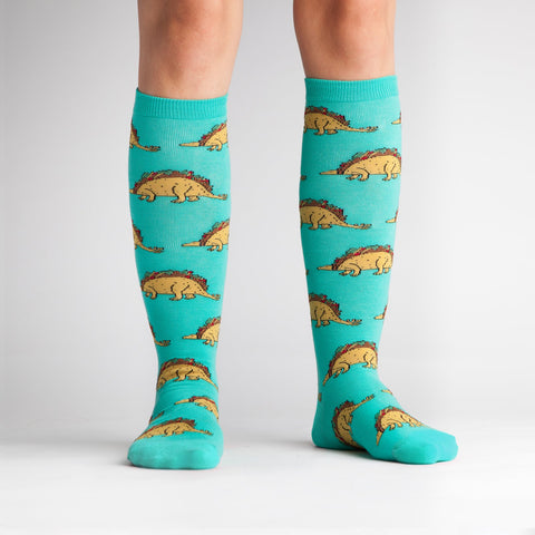 Sock It To Me Tacosaurus Knee High Adult Socks