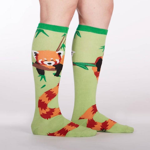 Sock It to Me Tale Of The Red Panda Knee High Socks