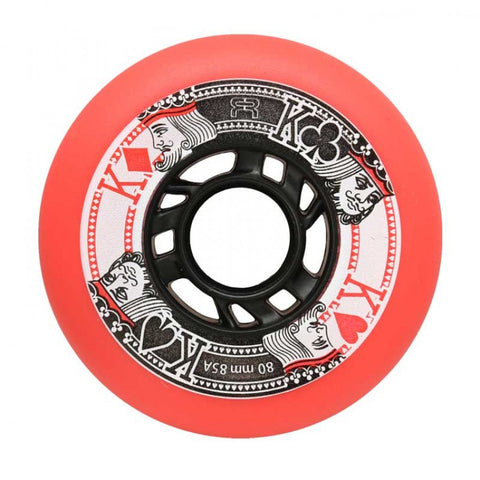 FR Street King Red 80mm/85A Inline Skate Wheels 4 Pack