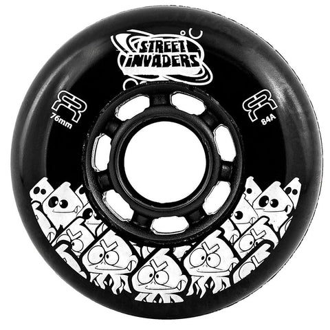 FR Street Invader Wheel Black 76mm/84a 4 Pack