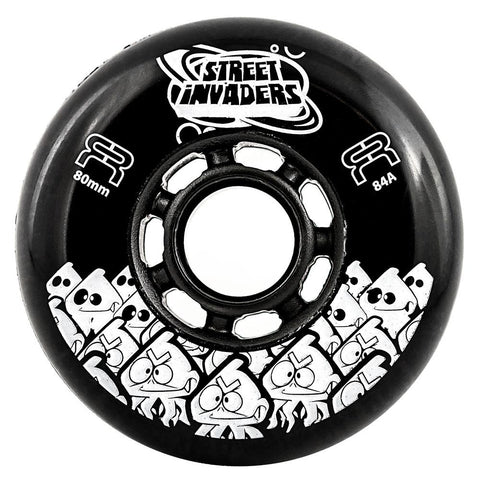 FR Street Invader Wheel Black 80mm/84a 4 Pack