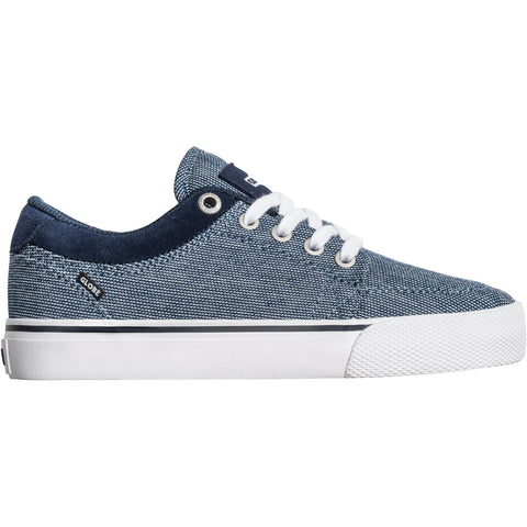 Globe GS Kids Navy Chambray/White Skateboard Shoes