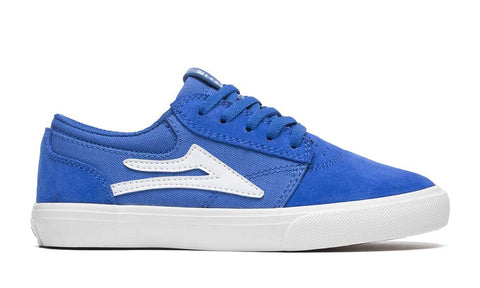 Lakai Griffin Kids Blue Suede Skateboard Shoes