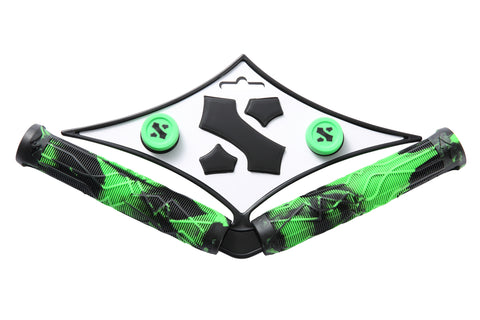 Sacrifice Spy Scooter Hand Grips Black/Green