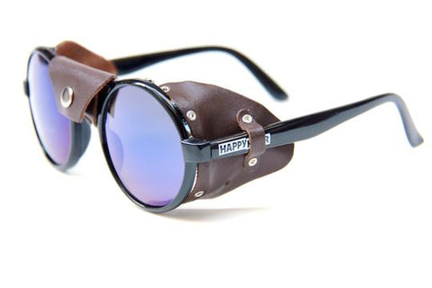 Happy Hour Dusters Dickson Black/Brown Leather Shades