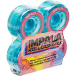 Impala Rollerskate Wheels Blue Glitter 4 Pack