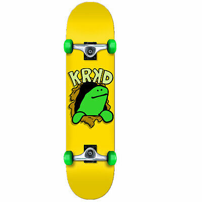 Krooked Shmoo Ripper 7.5 Yellow Complete Skateboard