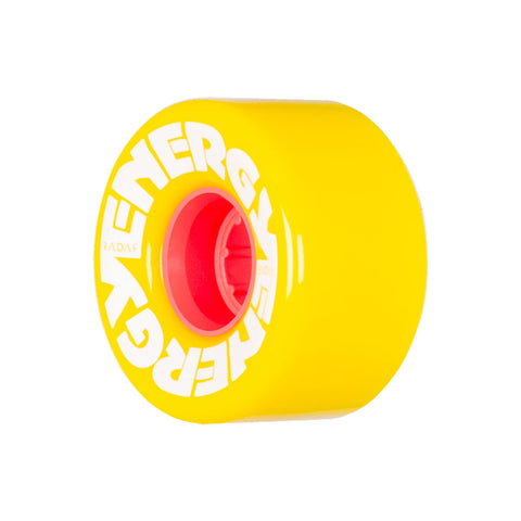 Radar Energy Outdoor Rollerskate Wheel 57mm  - Yellow/Orange (4 Pack)