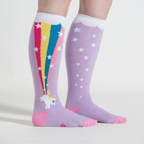 Sock It To Me Rainbow Blast Stretchy Adult Knee High Socks