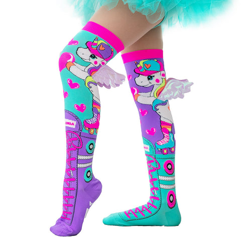 Madmia Skatercorn With Wings Socks Adult