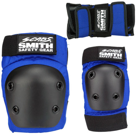 Smith Scabs Youth Protective Gear Tri Pack Blue