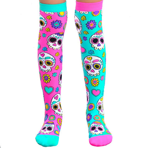 Madmia Sugar Skull Knee High Socks Adult