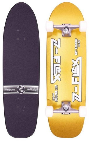 Z Flex Jay Adams Gold Metal Flake Complete Skateboard