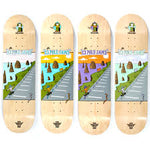 Folklore 12 Pole Jams Fibretech Teal 8.5 Skateboard Deck
