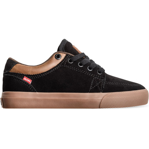 Globe GS Kids Black Suede/Gum Skateboard Shoes