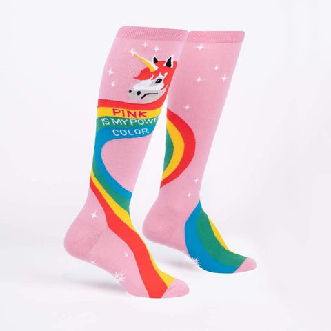 Sock It To Me Rainbow Mane Knee High Adult Socks