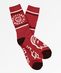 Spitfire Classic Bighead Socks Red/Black/White 8-12us