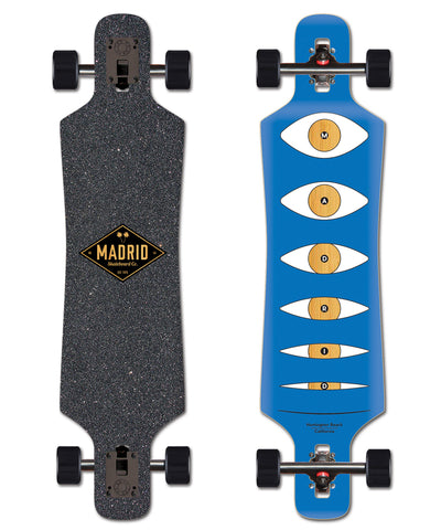 Madrid Spade Eyes Drop Through 39 X 9.25 Complete Skateboard