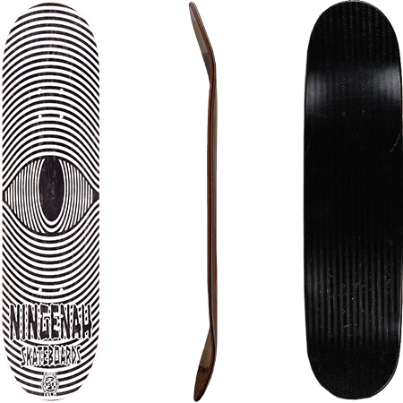 Ningenah Black Eyes Fibretech 8.25 Skateboard Deck