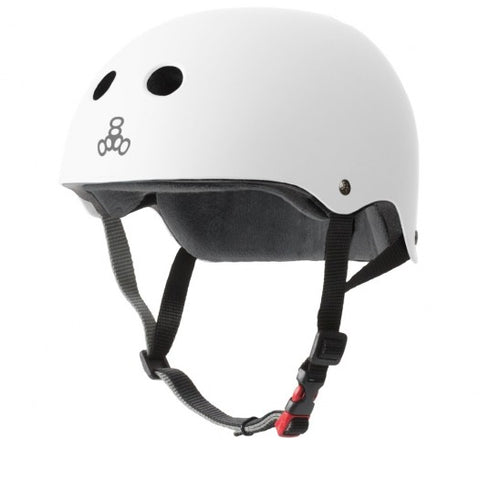 Triple 8 THE Certified Sweatsaver Helmet White