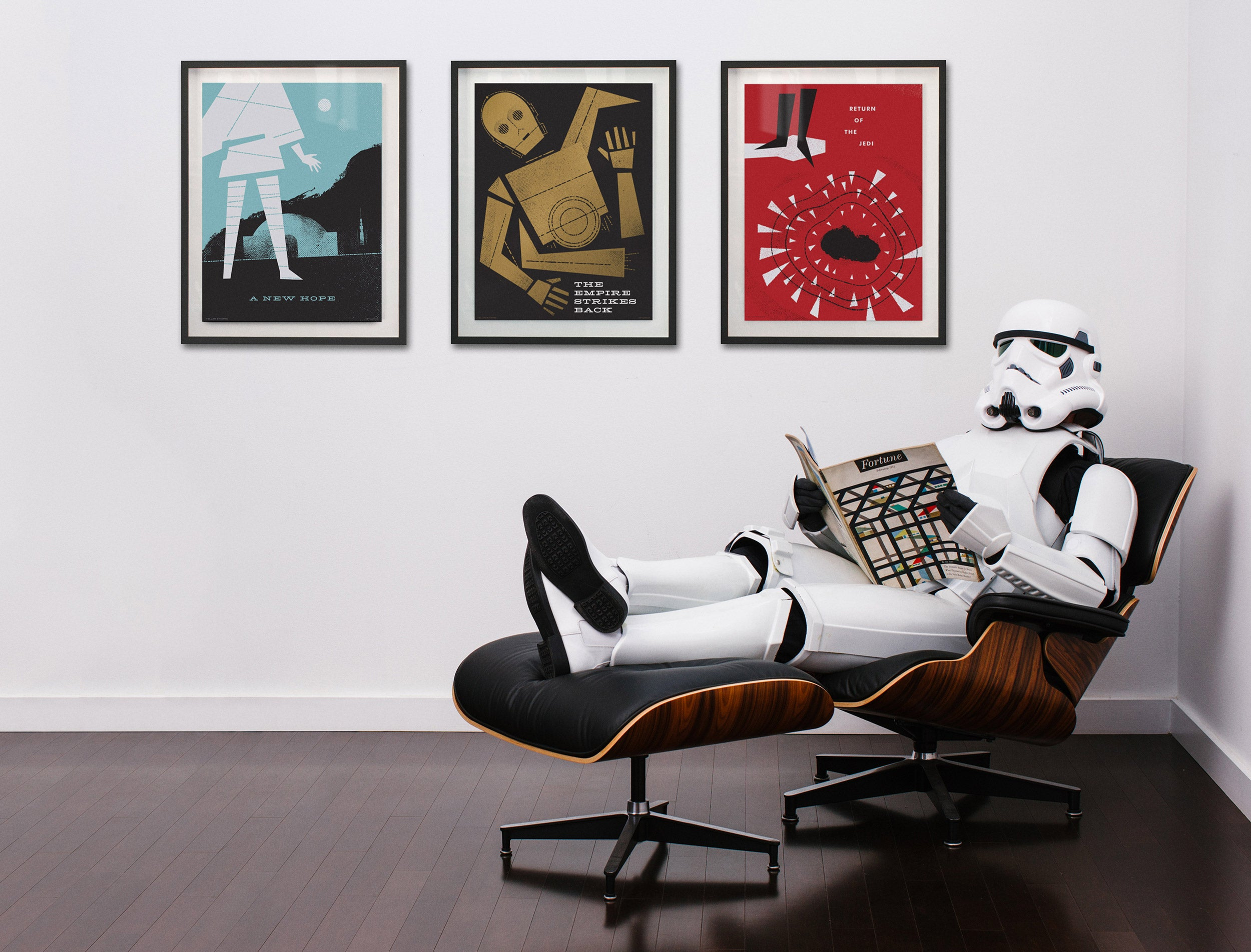 Ty Mattson Storm Trooper in Eames Lounge Chair