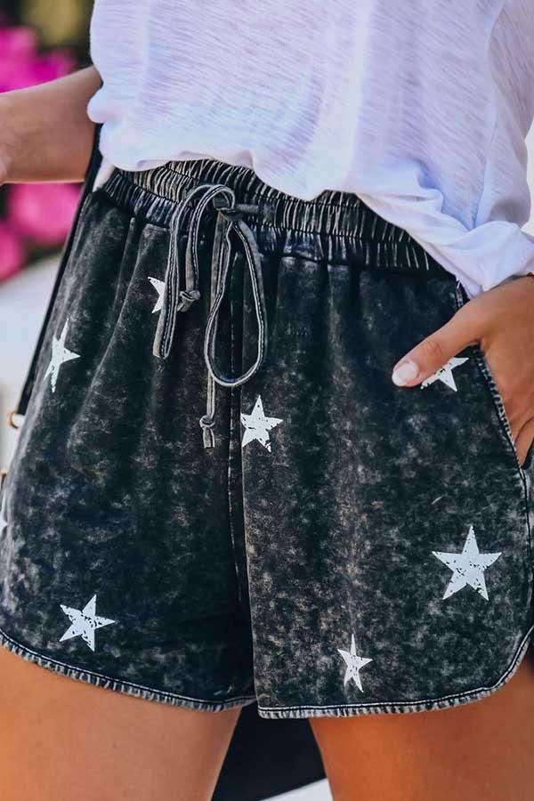 Star Baggy Casual Wear Shorts