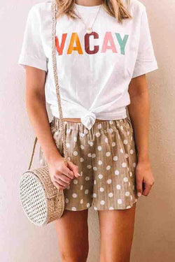 Short Sleeve Letter print Round Collar Leisurewear T-Shirt