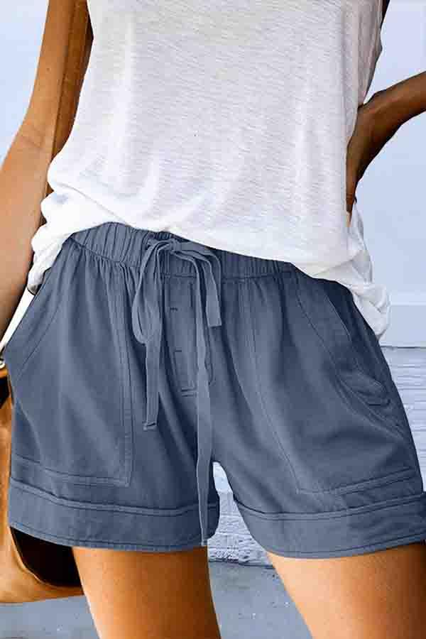 Solid Color Baggy Leisurewear Shorts
