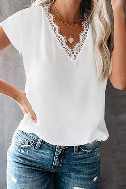 Short Sleeve V Neck T-Shirt