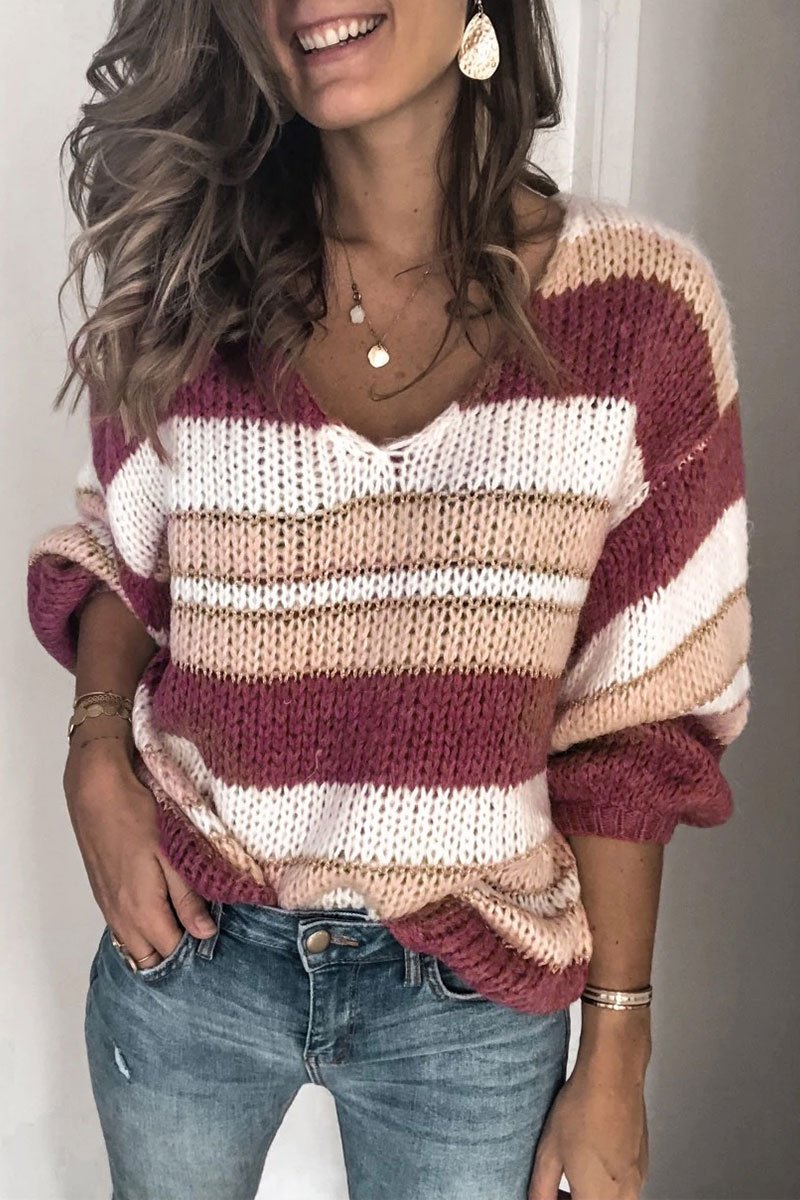 Striped Red Sweater