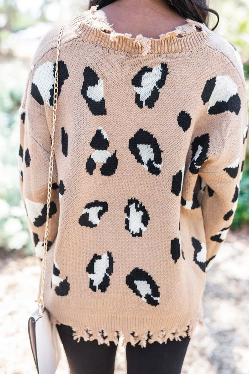 You've Had Your Chance Mocha Leopard Sweater