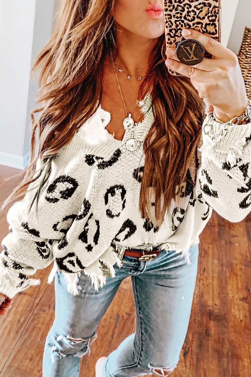 Asymmetrical White Sweater