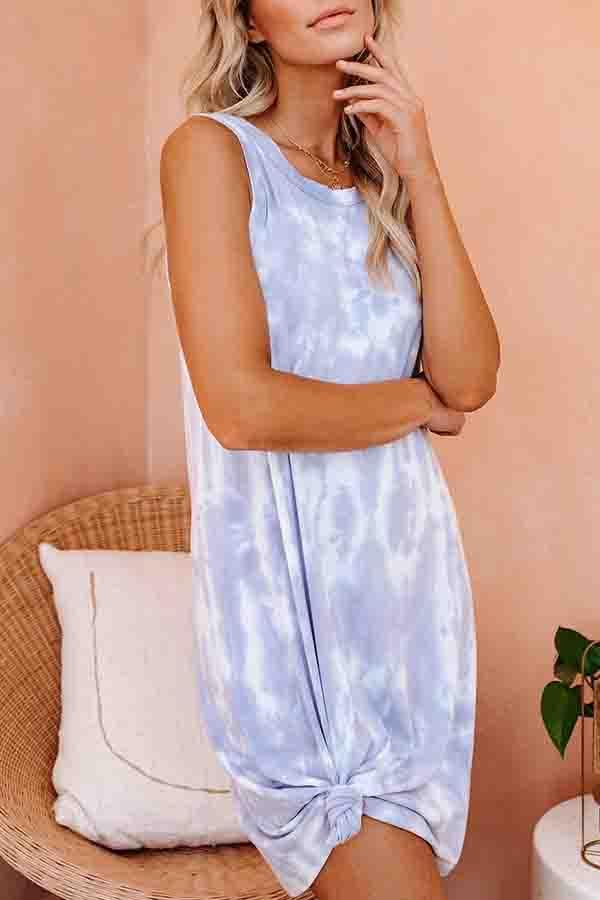 Sleeveless Tie Dye Dress
