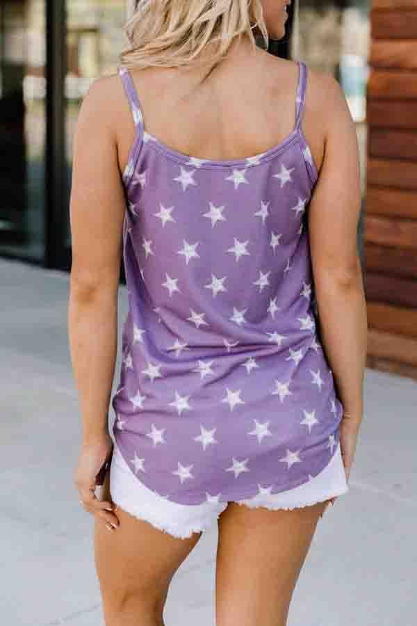 Star Spaghetti Strap Casual Wear Vest