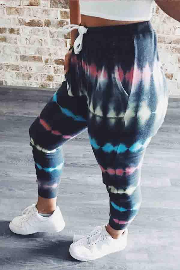 Tie Dye Baggy Leisurewear Jeggings