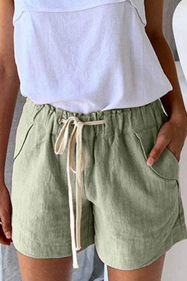 Solid Color Baggy Casual Wear Shorts