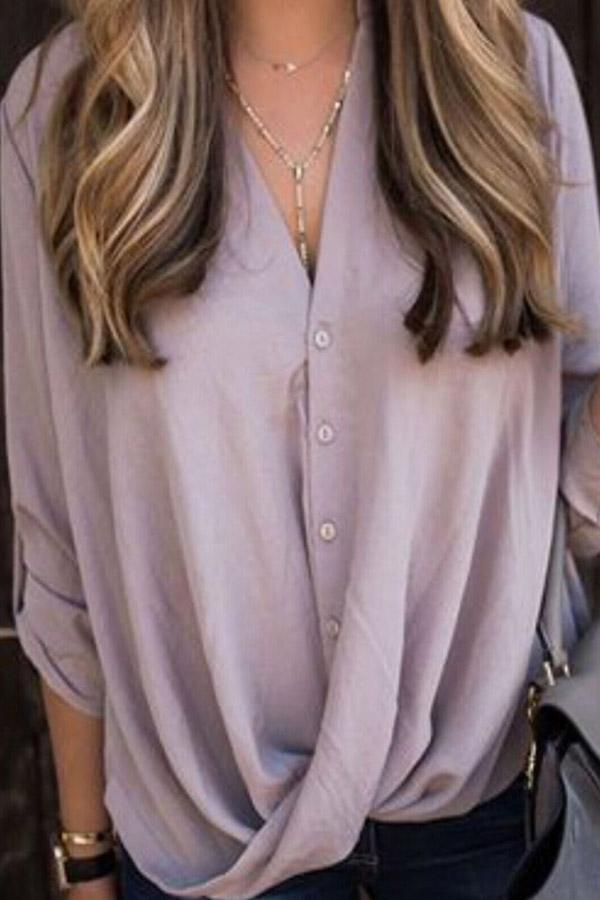 Twisted Button Blouse